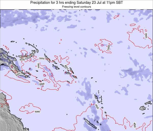 Solomon Islands Precipitation for 3 hrs ending Friday 25 Apr at 5pm SBT