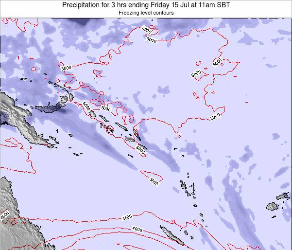 Solomon Islands Precipitation for 3 hrs ending Monday 28 Jul at 5am SBT