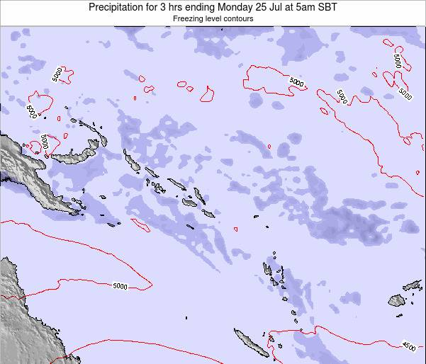 Solomon Islands Precipitation for 3 hrs ending Friday 22 Aug at 5am SBT