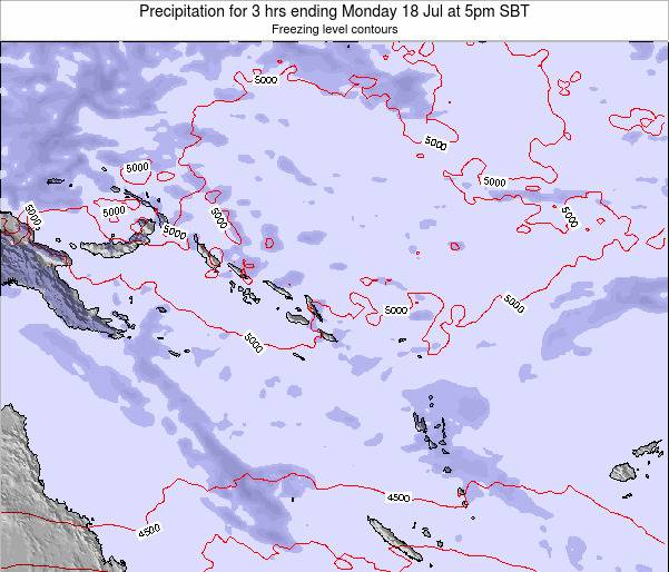 Solomon Islands Precipitation for 3 hrs ending Saturday 19 Apr at 11am SBT