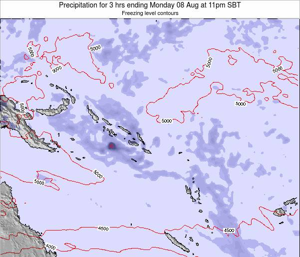 Solomon Islands Precipitation for 3 hrs ending Thursday 20 Jun at 5pm SBT