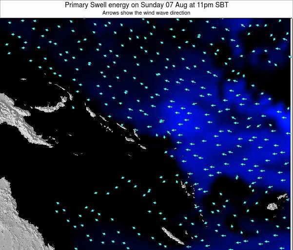 Solomon Islands Primary Swell energy on Wednesday 23 Apr at 11pm SBT