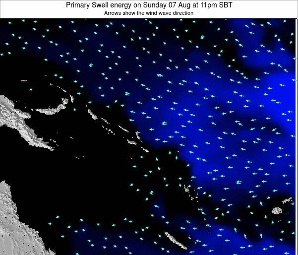 Solomon Islands Primary Swell energy on Thursday 30 May at 11pm SBT
