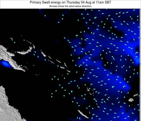 Solomon Islands Primary Swell energy on Monday 24 Jun at 5pm SBT