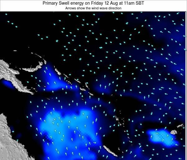 Solomon Islands Primary Swell energy on Monday 24 Jun at 11am SBT
