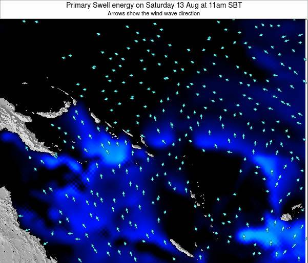 Solomon Islands Primary Swell energy on Tuesday 28 May at 5pm SBT
