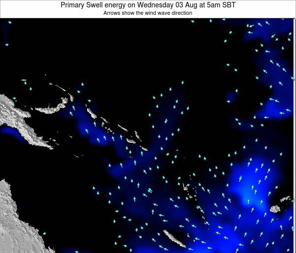 Solomon Islands Primary Swell energy on Monday 20 May at 11am SBT
