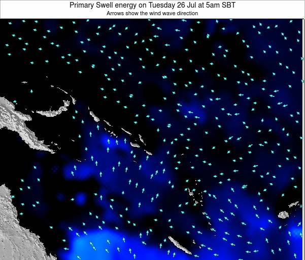 Solomon Islands Primary Swell energy on Friday 24 May at 11am SBT