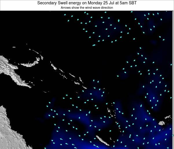 Solomon Islands Secondary Swell energy on Thursday 30 May at 11am SBT