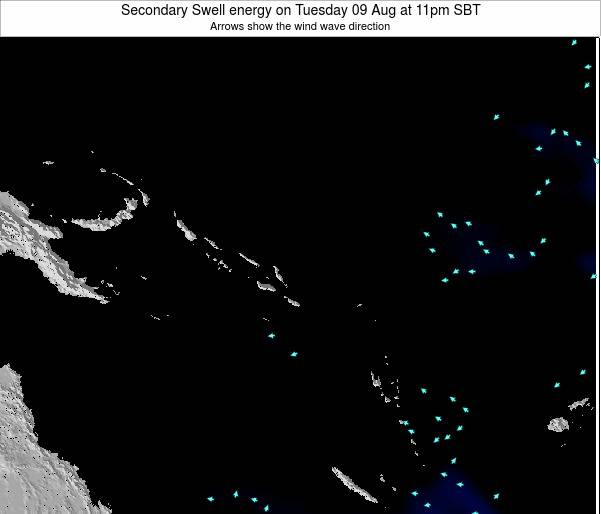 Solomon Islands Secondary Swell energy on Monday 17 Mar at 11pm SBT