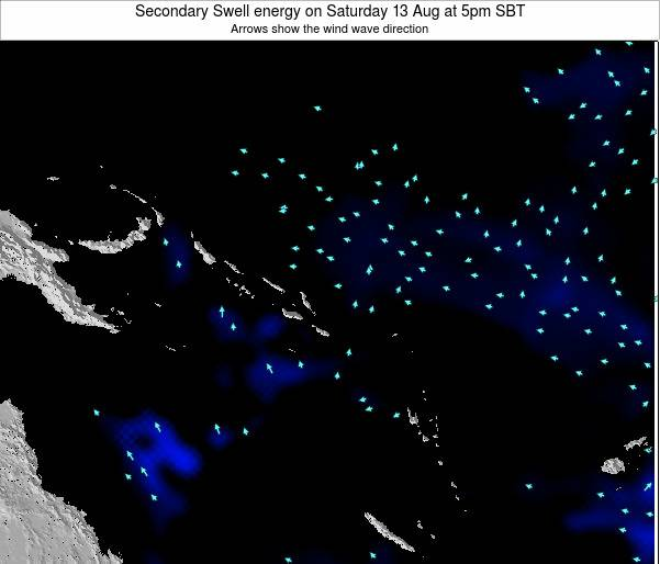 Solomon Islands Secondary Swell energy on Friday 28 Nov at 11am SBT
