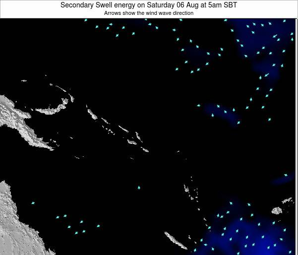 Solomon Islands Secondary Swell energy on Friday 01 Aug at 11am SBT