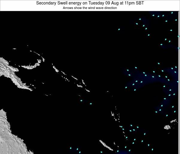 Solomon Islands Secondary Swell energy on Friday 28 Sep at 11pm SBT map