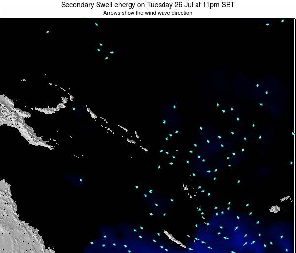 Solomon Islands Secondary Swell energy on Saturday 02 Jul at 11pm SBT