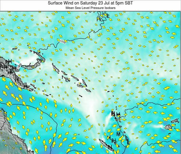 Nauru Surface Wind on Saturday 22 Sep at 5am SBT map