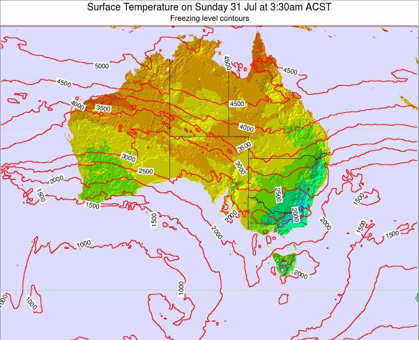 South-Australia Surface Temperature on Thursday 24 Apr at 9:30am CST