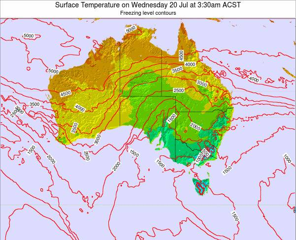 South-Australia Surface Temperature on Monday 17 Mar at 4:30pm CST