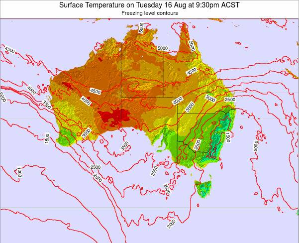South-Australia Surface Temperature on Monday 27 May at 3:30pm CST