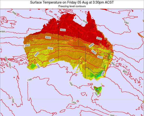 South-Australia Surface Temperature on Saturday 01 Nov at 10:30am CST