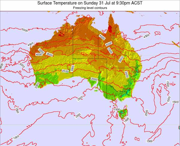 South-Australia Surface Temperature on Friday 25 Apr at 9:30am CST