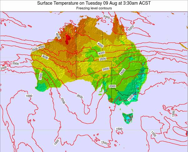 South-Australia Surface Temperature on Wednesday 23 Apr at 3:30am CST