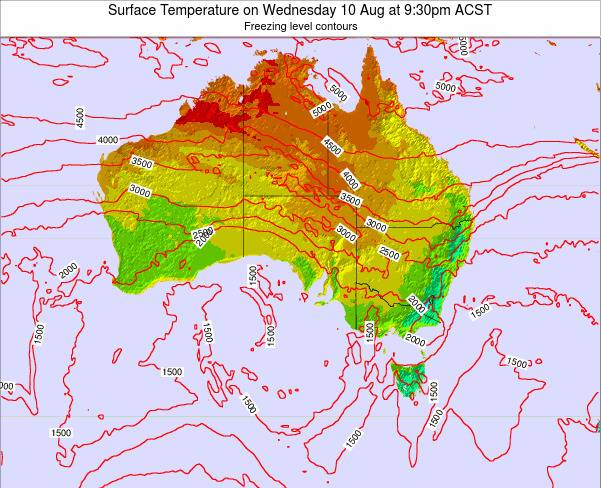 South-Australia Surface Temperature on Thursday 31 Jul at 3:30pm CST