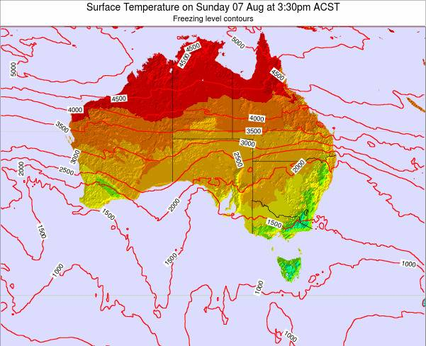 South-Australia Surface Temperature on Sunday 01 Mar at 4:30pm CST