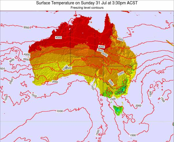 South-Australia Surface Temperature on Sunday 26 May at 3:30pm CST
