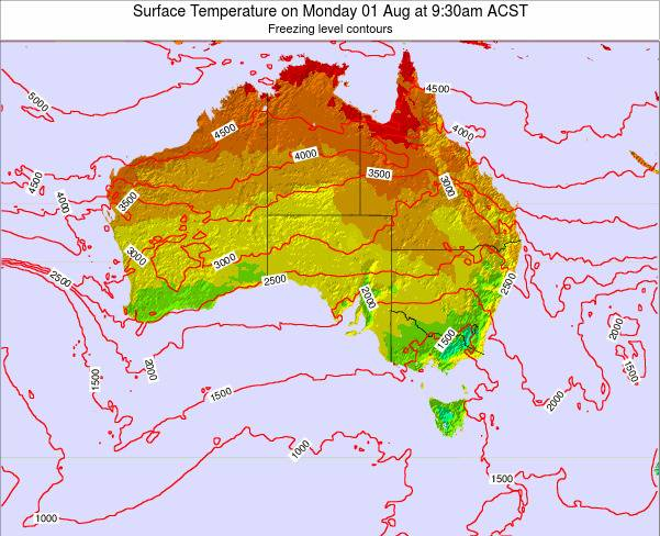 South-Australia Surface Temperature on Friday 26 Aug at 3:30pm ACST