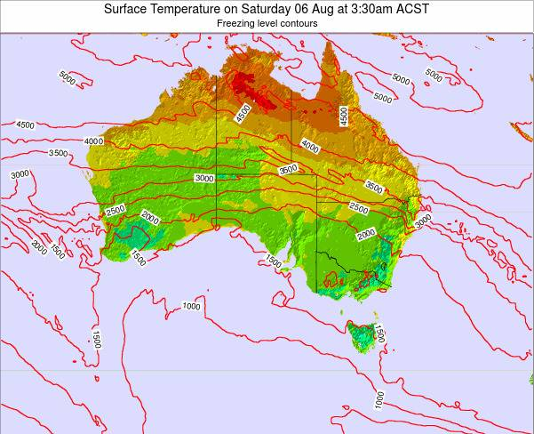 South-Australia Surface Temperature on Tuesday 11 Mar at 10:30am CST