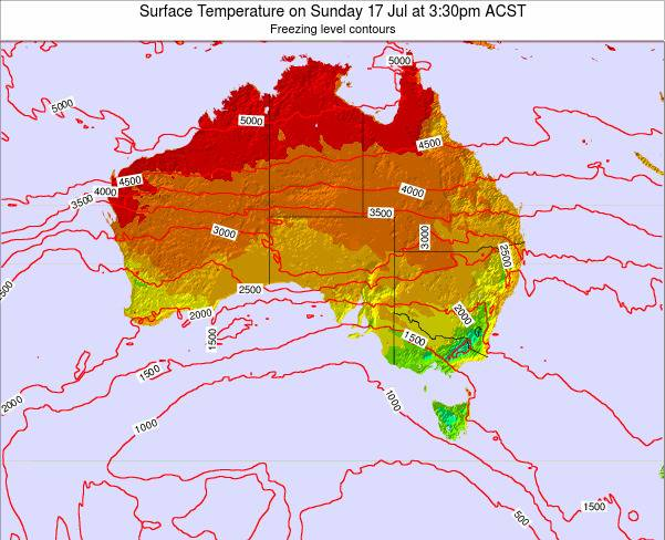 South-Australia Surface Temperature on Thursday 24 Jul at 3:30am CST