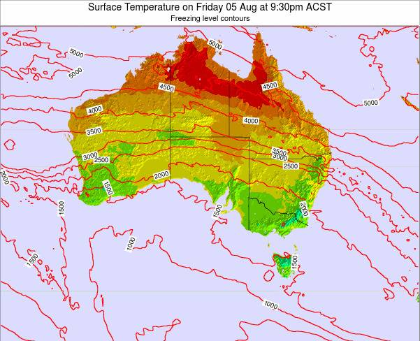 South-Australia Surface Temperature on Thursday 19 Oct at 10:30am ACDT