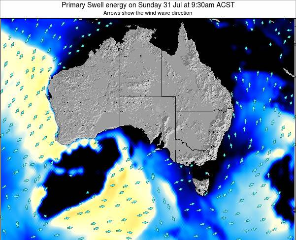 South-Australia Primary Swell energy on Thursday 20 Jun at 9:30am CST
