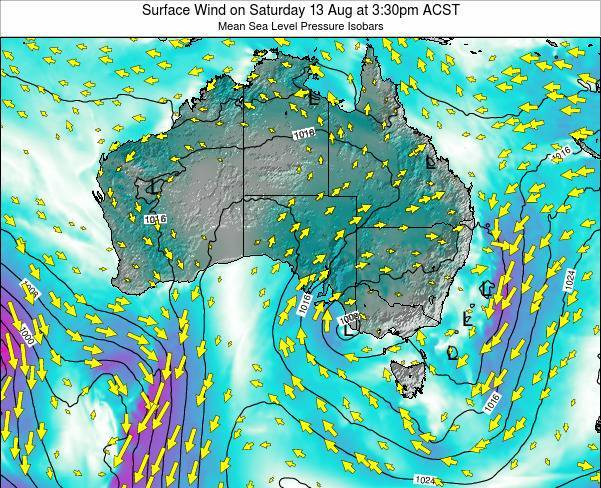South-Australia Surface Wind on Wednesday 30 Apr at 3:30am CST