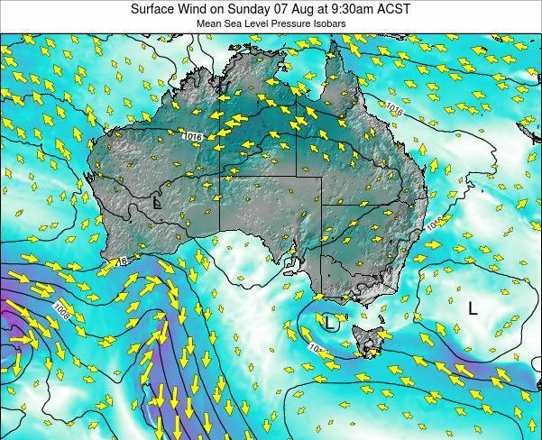 South-Australia Surface Wind on Thursday 23 May at 9:30am CST