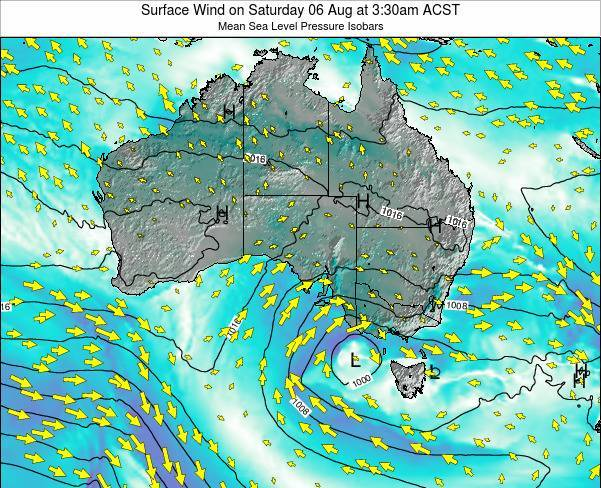 South-Australia Surface Wind on Tuesday 22 Apr at 9:30am CST