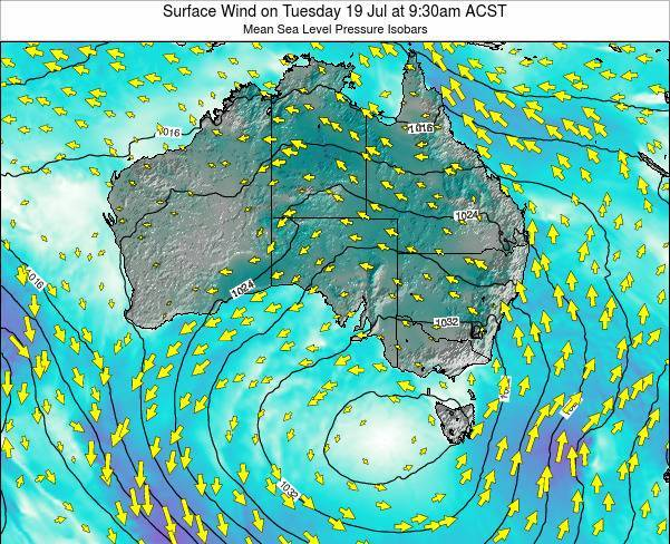 South-Australia Surface Wind on Tuesday 27 Jun at 9:30am ACST