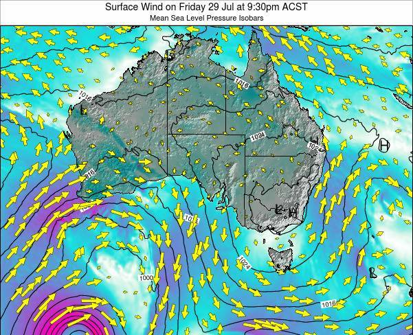 South-Australia Surface Wind on Sunday 26 May at 9:30am CST