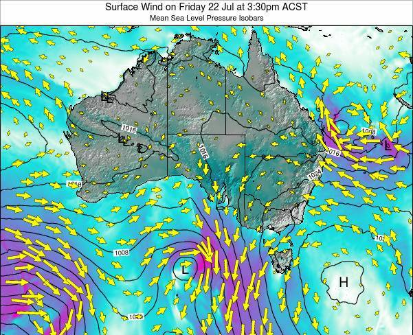 South-Australia Surface Wind on Thursday 13 Mar at 4:30pm CST