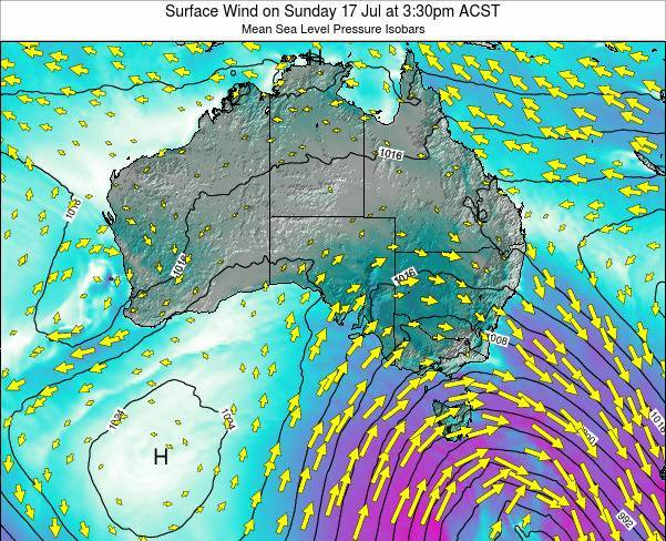 South-Australia Surface Wind on Sunday 31 Jul at 3:30pm ACST