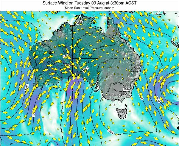 South-Australia Surface Wind on Tuesday 27 Sep at 3:30pm ACST