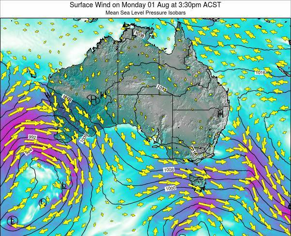 South-Australia Surface Wind on Sunday 26 May at 3:30pm CST