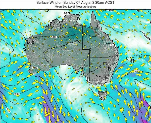 South-Australia Surface Wind on Monday 27 Jun at 9:30pm ACST