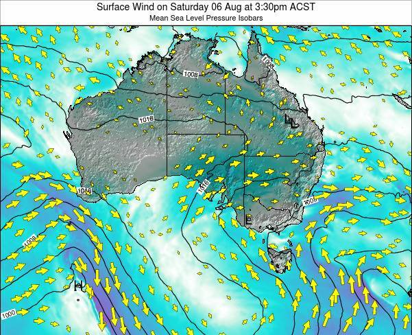 South-Australia Surface Wind on Monday 21 Apr at 9:30am CST