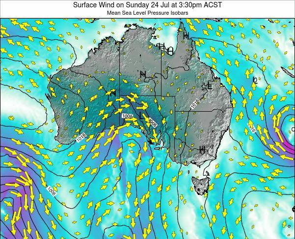 South-Australia Surface Wind on Tuesday 11 Mar at 4:30am CST