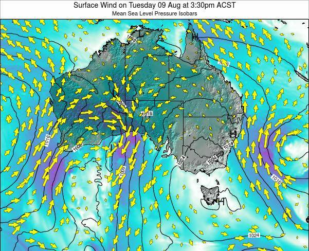 South-Australia Surface Wind on Wednesday 21 Nov at 4:30pm ACDT map