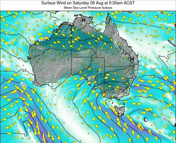 South-Australia Surface Wind on Thursday 12 Dec at 4:30pm CST