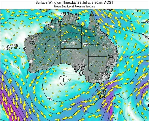 South-Australia Surface Wind on Monday 29 May at 9:30am ACST