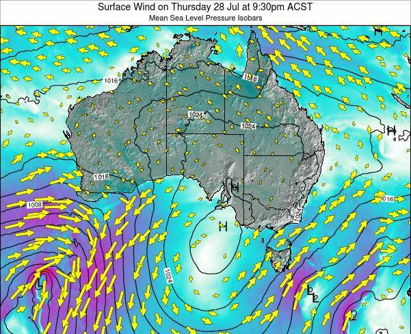 South-Australia Surface Wind on Thursday 23 Feb at 10:30pm ACDT