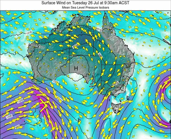 South-Australia Surface Wind on Tuesday 21 May at 3:30pm CST